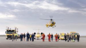 ÖAMTC Flotte und ÖAMTC Mitarbeiter bei der Filmproduktion der just GmbH für ÖAMTC Schutzbrief TV-Spot.