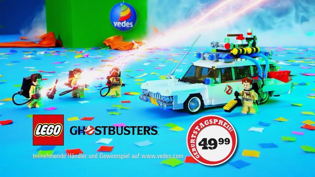 Lego Ghostbusters Ecto-1 bei der Filmproduktion der just GmbH für VEDES TV-Spot.