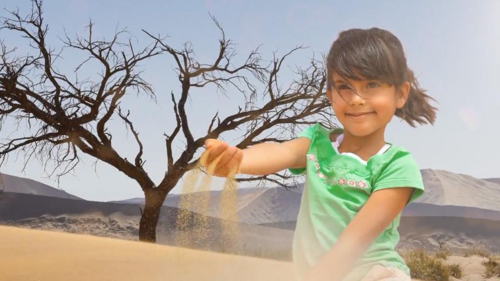 Darsteller-Kind aus der Filmproduktion der just Filmproduktion für die IFAT Messe der Messe München.