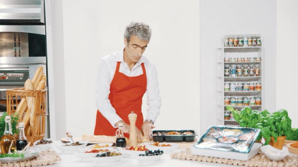 Darsteller bei der Filmproduktion der just GmbH für den Imagefilm der KoelnMesse für die Anuga Lebensmittel-Messe.