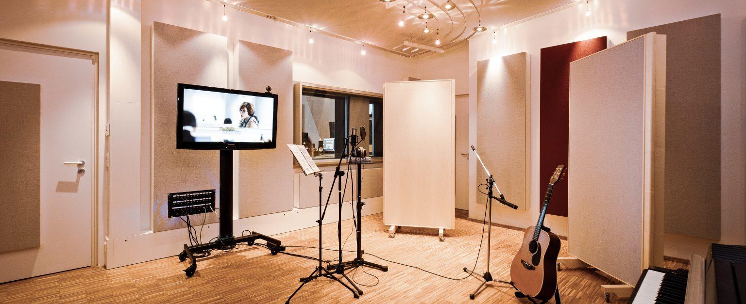 Aufnahmeraum der just GmbH audiovisuelle produktionen, Zielstattstraße 19, 81379 München, Aufnahme 1